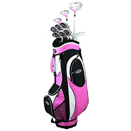 Golf Girl FWS2 Petite Lady Pink Hybrid Club Set and Cart Bag
